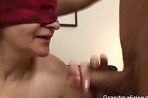 Will not hear of old hairy pussy is toyed with an increment of fucked