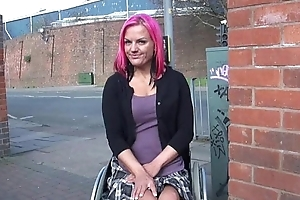 Wheelchair bound Leah Caprice nigh uk lustrous and outdoor nudity