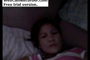 Diane Cordero. She is filipino woman. masturbating on webcam