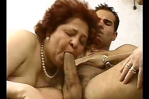 2 Grandmas Enjoy a Hunk coupled with his cock.