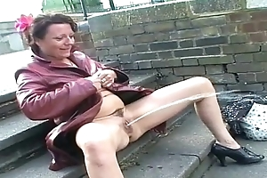 Upskirt regurgitate masturbation and nude outdoor flashing of uk mature amateur