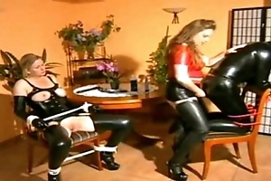 Mistress copulates heer kick off b lure together with female slaves best scenes