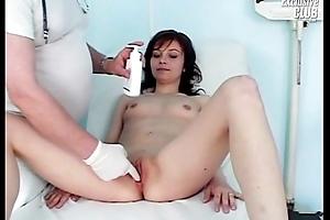 Mom Terri having pussy examined by superannuated kinky doctor