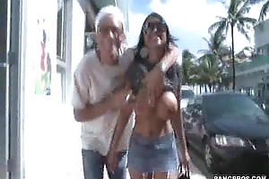 Flashing my GF'_s Tits