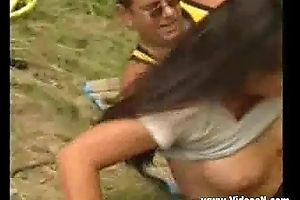 Cute Teen fucked at the end of one's tether German venerable man outdoor