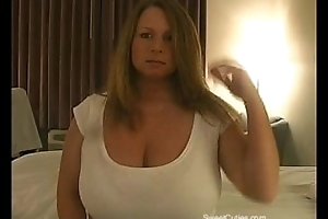 Chubby Blonde with Big Boobs