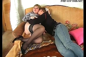 fat mother fucked hard by young