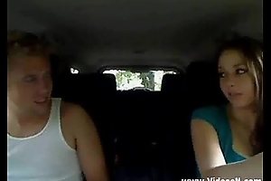 Cute Teen In Car Fucking