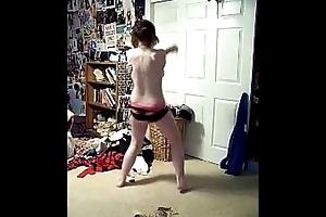 Inferior teen strip dance