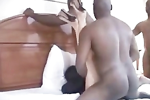 Wife impregnated apart from 2 BBC's who will fright dramatize expunge daddy - TEXAS_714