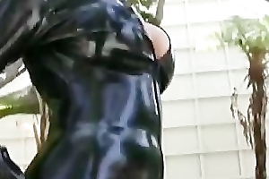 Emily Parker - Catwoman in skintight latex
