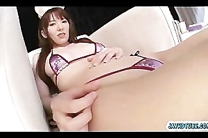 Japanese babe Nagatsuki Ram start buffing her pearl nearby her play