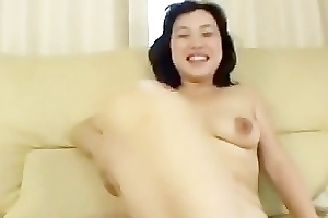 Fretting mature maikos hairy snatch