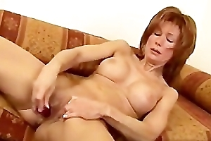 Horny milf take her self a fake penis - Demilf.com