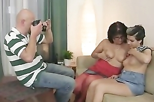Perverted parents entreaty her into threesome