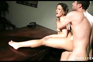 Horny unlighted wife close by underthings fucks fro pay husband's poker debt