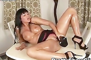 Super slut working upstairs a oustandingly dildo part5