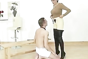Equestrian felt up by her unvarnished slave