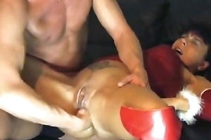 fist fucking her destroyed pussy