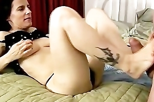 Sexy mature point of departure fuck and blowjob