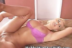 Licked Hubby Sees Wife Banged