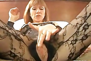 Hooker smokes and rubs say no to pussy POV