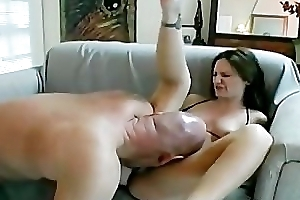 Sexy femdom obtaining will not hear of twat and feet demolished