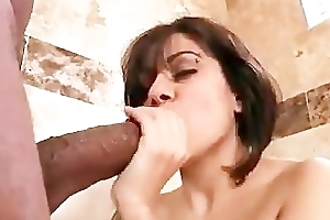 Busty babe gets fur pie pounded by black part6