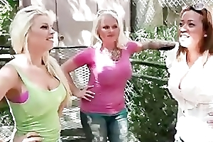 Busty blond bimbo gets her pussy screwed part4