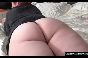 This sweet granny has a nice ass