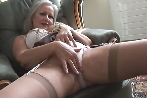 Loved busty granny nigh stockings stripping