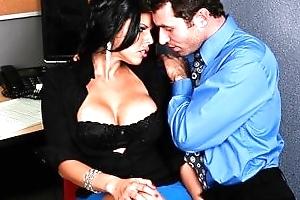 Sexy big-boobed Lalin girl Diamond Kitty has rough-sex nearly co-worker