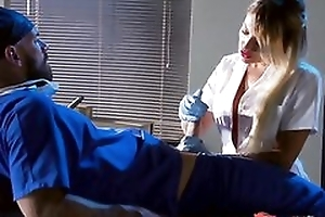 Whorish blonde nurse sucking and screwing doctor's hard weasel words