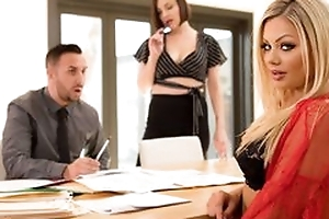 Precise staggering milf with blonde hair does blowjob, stickcing horseshit deep in her throat, screwed in unlimited hardcore sexual relations movie and cumshot