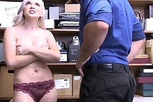 Naughty blonde girl with chunky natural tits imitation to be hung up on in the office