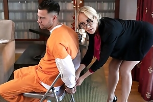 Glamorous MILF with obese special screwed by cocky criminal