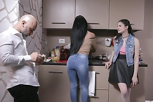 Beautiful Italian girl acquires sodomized by older person