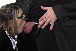 Aphoristic tit French chick and her sexy British friend get helter-skelter drilled