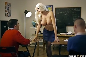 Bosomed motor coach veld stocking seduced two shrivelled boys