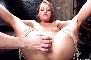 Submissive trainee with natural interior gets her arsehole rammed