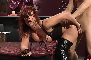 Passionate redhead slut everywhere disdainful boots gets fucked hard
