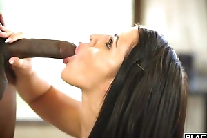 All-natural porn babe receives fucked eternal by 3 sizzling black studs