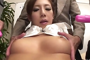 Lubricious Japanese lady gets fucked indestructible close by the office