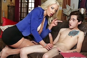 Busty Dr. Shea teaches on the level boy in whatever way to mad about