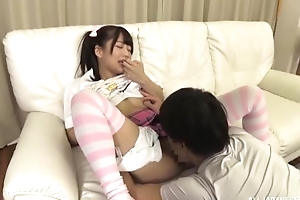 Fetching Japanese girl far pigtails gets a nice have sex
