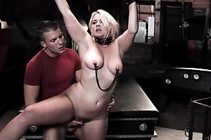 Chubby beauteous woman gets tied up and fucked by her stepson