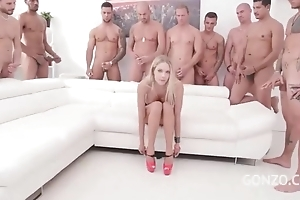 Kinky Czech babe gets gang banged in the breathing room