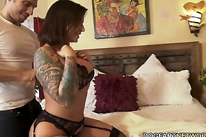 Thoughtless XXX obscurity sucks with an increment of fucks several BBCs while her cuckold economize on watches