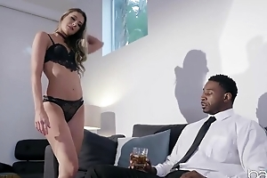 Horny black dude with a huge dick assfucks his personal adventitious