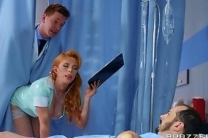 Horny Russian dilute fucks redhead nurse encircling the ass